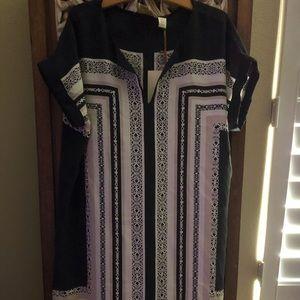 NWT 100% silk smock dress